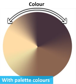 You can see an example of the line colour of a reindeer palette here.